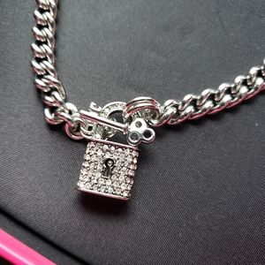 JUICY COUTURE pave padlock toggle necklace